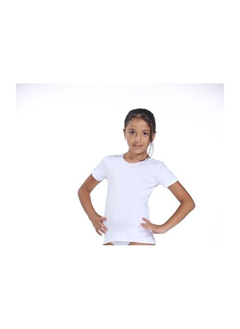 Zeyzey 2'li Ribana Kız Çocuk Atlet Beyaz